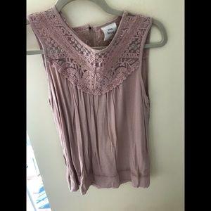 Knox Rose blush pink lace sleeveless top